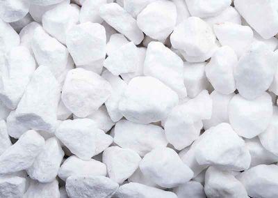 Ziersplitt Schneeweiß